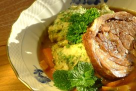 Native Shetland Lamb with Garden Roots & Herby Dumplings