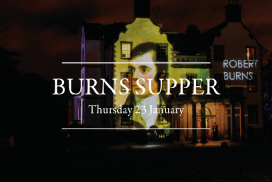 LAST TICKETS REMAINING for our Burns Supper – Thursday 23rd  January.