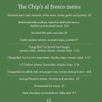 The Chip's Al fresco Menu is here!