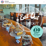 Eat Out to Help Out at the Sheila Fleet Kirk Café!