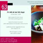 Fabulous menu from No63 Tay Street