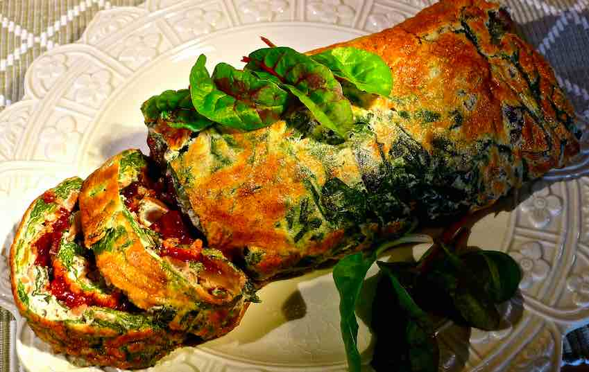 Chestnut and Chard Roulade