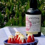 Strawberries stuffed with Fraiser syllabub