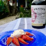 Macerated strawberries with fresh cheese