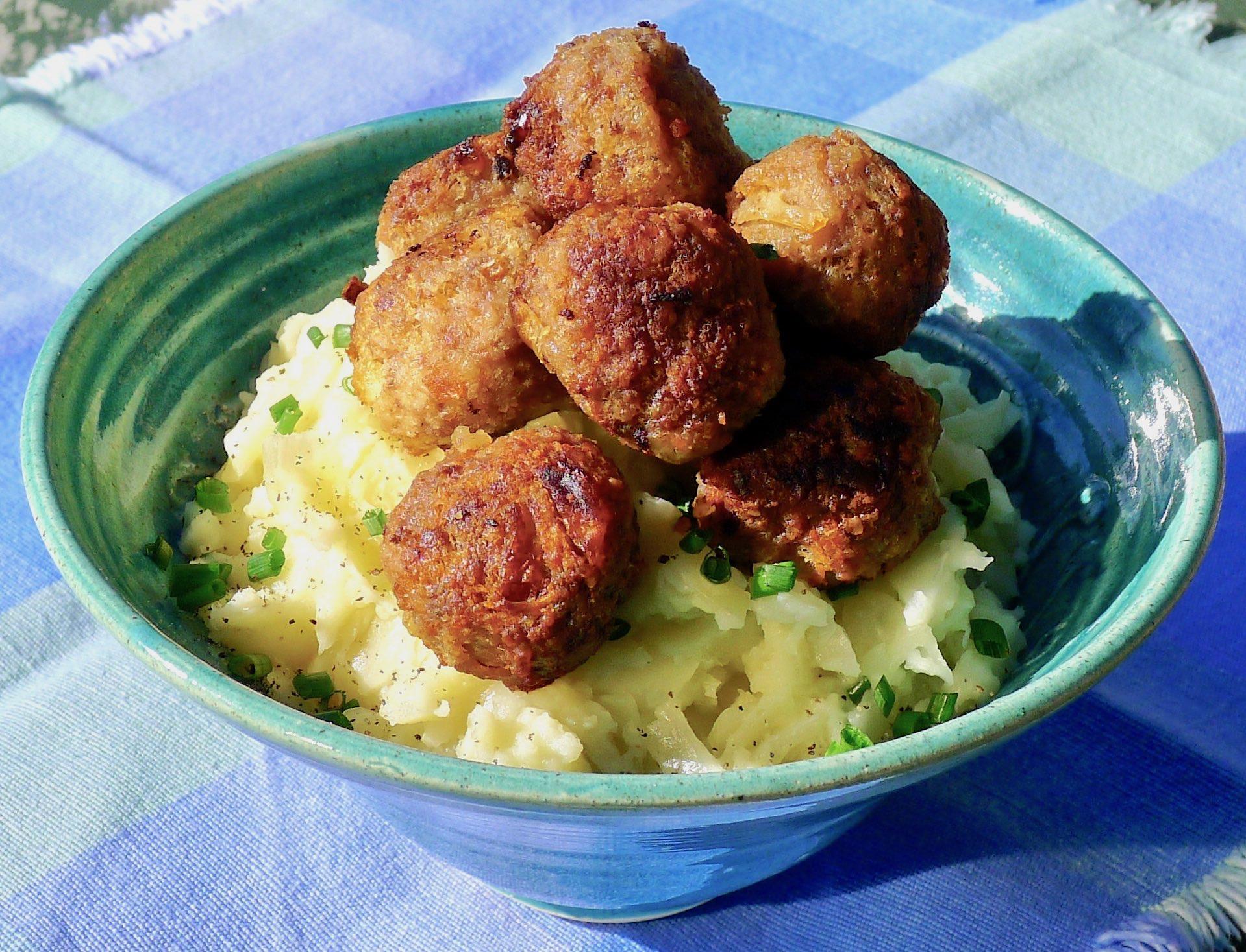 Orkney Boreray Mutton Meatballs & Colcannon